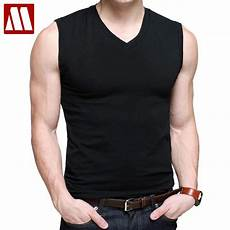 mens cotton t shirts v neck sleeve summer fashion