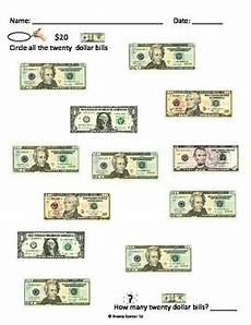 identifying paper money worksheets 15693 money math worksheets freebie for special education by breezy special ed