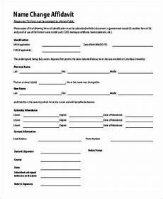free 20 affidavit form exles in sle exle format