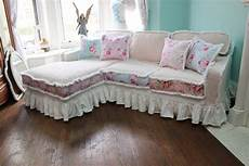 sofa shabby chic shabby chic sectional sofa vintage by