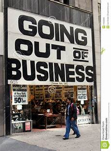 Nyc Going Out Of Business Sign Editorial Image Image Of