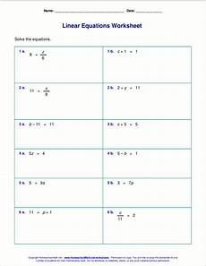 algebra single variable worksheets 8620 free worksheets for linear equations grades 6 9 pre algebra algebra 1