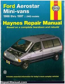 shop manual aerostar service repair ford haynes chilton haynes ford aerostar mini vans 1986 1997 auto repair manual