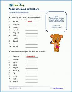 grade 2 punctuation worksheets k5 learning