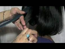 hair cutting techniques hair cutting tips graduated haircut bob youtube