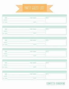 birthday guest worksheet 20227 11 free printable planner checklists wedding guest list wedding list list