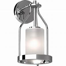 volume lighting emery 1 light 5 in chrome indoor vanity wall sconce or wall with frosted