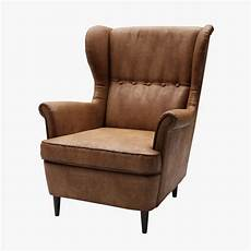 3d Strandmon Wing Chair Ikea Turbosquid 1207766