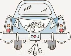 Malvorlagen Auto Just Married Wedding Hochzeit Auto Just Married Auto Geschenk