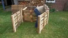 mit europaletten komposter aus europaletten selber bauen