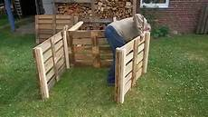 komposter aus europaletten selber bauen