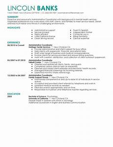 best social services administrative coordinator resume