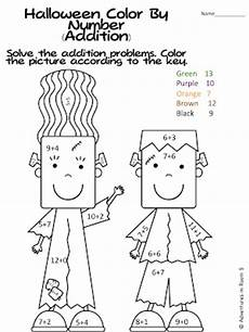 halloween math coloring sheets 2nd grade colorings net