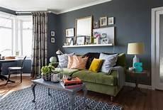 Grau Blaue Wand Im Wohnzimmer Graue W 228 Nde Wohnzimmer