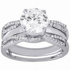 10k white gold diamond solitaire engagement ring enhancer wrap 0 36 ct s wedding band