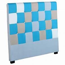 tete de lit patchwork t 234 te de lit capitonn 233 e quot patchwork quot 140cm bleu