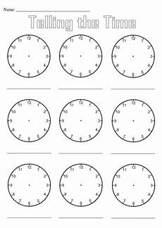 teaching time printable clock 3714 blank clocks for telling the time by simon h teaching resources