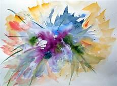 modeles peintures abstraites aquarelles abstraites marjory