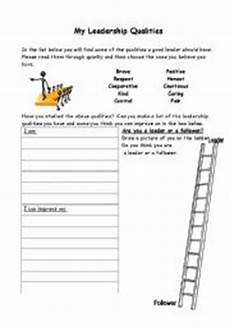 my leadership qualities esl worksheet by littlekallie