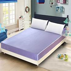 silk like fitted sheet single double bedding sheets bedspread elastic mattress cover smooth 1 2m
