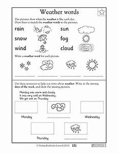 free printable weather worksheets for 1st grade 14723 kindergarten writing worksheets weather words alakoulut ja englanti