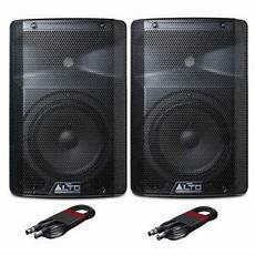 alto pa speaker alto tx208 active powered 8 quot dj disco pa speaker pair with free cables ebay