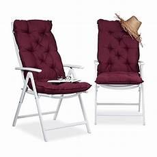 relaxdays matelas coussin pour fauteuil chaise lot de 2
