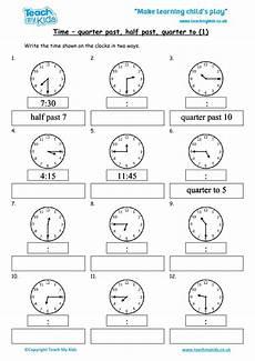 time worksheets ks1 quarter past 3066 time quarter past half past quarter to 1 tmk education