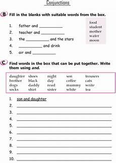 grammar worksheets for grade 1 and 2 25168 grade 1 grammar lesson 17 conjunctions conjunctions worksheet grammar lessons