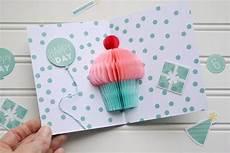 Geburtstagskarten Basteln Popup Cupcake Lustige