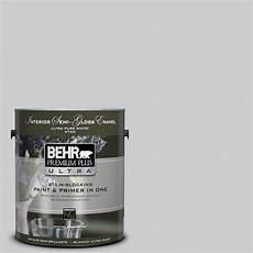 behr premium plus ultra 1 gal 770e 2 silver screen color gloss enamel interior paint
