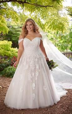 Plus Size Gown Wedding Dresses lace ballgown plus size wedding dress essense of