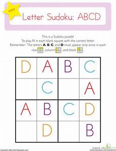 letter a b c worksheets 23975 capital letter sudoku abcd worksheet education
