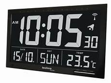 digital uhr datum temperatur wanduhr funkuhr uhr