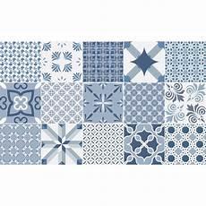 stickers effet carreaux de ciment 15 stickers carreaux de ciment bleu anvers stickers