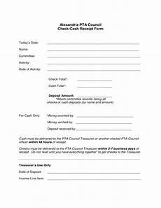 check receipt template check cash receipt form free download