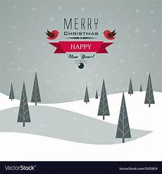 merry christmas landscape royalty free vector image