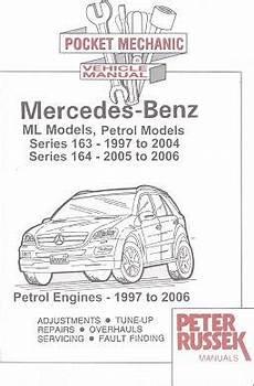 small engine service manuals 2004 mercedes benz cl class head up display 1997 2006 mercedes benz ml models gas series 163 1997 2004 petrol series 164 2005