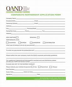 free 8 sle partnership application forms in pdf ms word