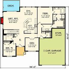open concept house plans one story plan 89845ah open concept ranch home plan open concept