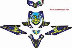 Modifikasi Stiker Motor Beat by Jual Modifikasi Stiker Motor Honda Beat Agv Shark