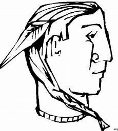 Malvorlage Indianer Feder Indianer Mit Feder Ausmalbild Malvorlage Gemischt