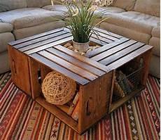 table basse avec des caisses en bois les petites