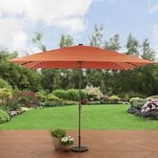 rectangular aluminum market umbrella solar lighted patio canopy 8 11 ft ebay