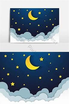 Pemandangan Bulan Sabit Dan Bintang Gambar