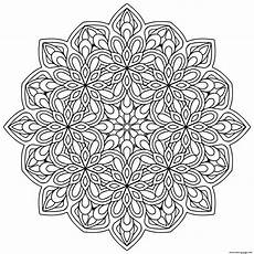 mandala zen antistress flowers 9 coloring pages printable