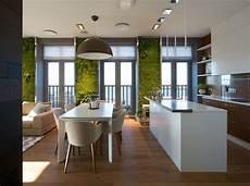 Modern Apartment Design Green Walls By Svoya