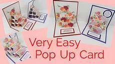 pop up card template s day pop up card flower tutorial
