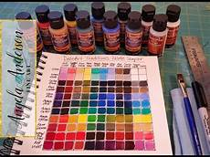 creating a color mixing guide chart acrylic painting tutorial for beginners learn to mix