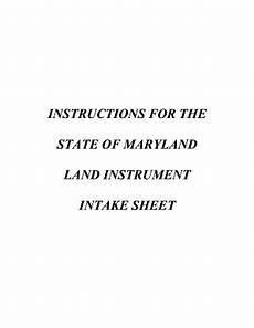 maryland instructions intake sheet fill out and sign printable pdf template signnow